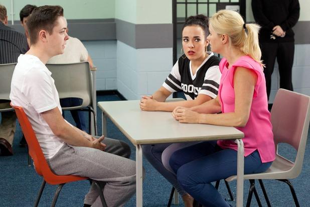 Hollyoaks, Sinead and Diane visit Finn, Fri 26 Sep