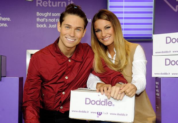 Sam Faiers and Joey Essex pictured for first time after split promoting online shopping retailer Doddle, London 24 September
