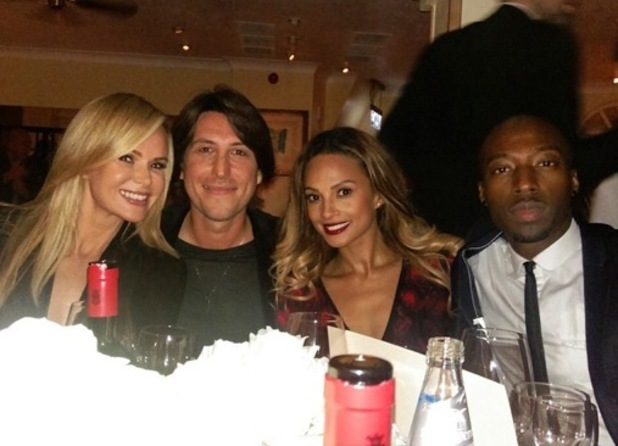 Amanda Holden and Alesha Dixon double date at Simon Cowell's early birthday, London 21 September