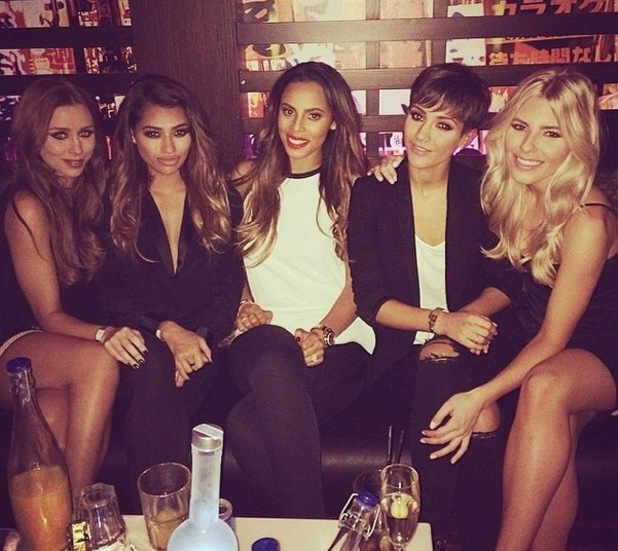 The Saturdays party after their Greatest Hits Live show, Bournemouth 22 September