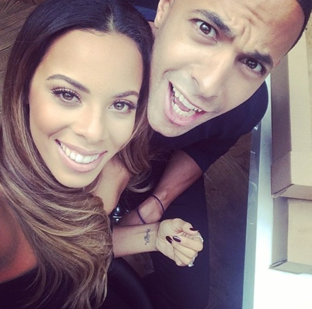 Marvin Humes and Rochelle Humes work on a shoot together 25 September