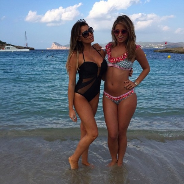 Jessica Wright shares beach snap with Ferne McCann from Ibiza where the TOWIE cast film TOWIE, 26 September 2014