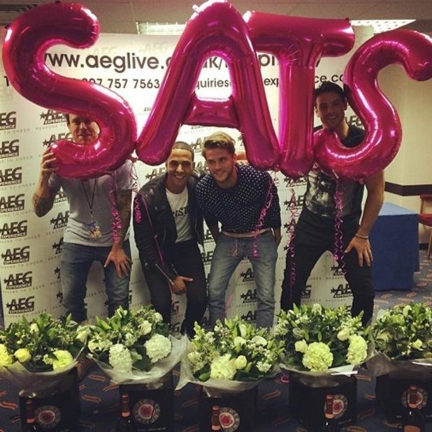 The Saturdays husbands and boyfriends - Marvin Humes, Ben Foden, Wayne Bridge, Gary Salter - Bournemouth 22 September