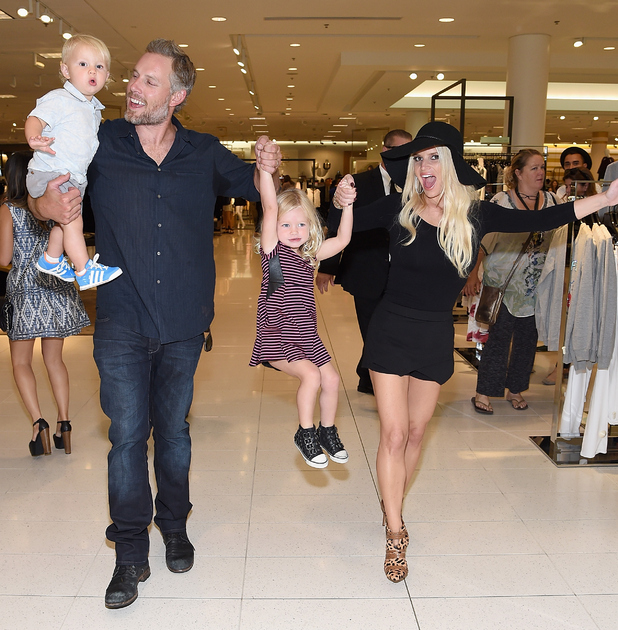 Jessica Simpson at the Jessica Simpson Collection Fashion Show at Nordstrom on September 20, 2014 in Los Angeles, California.