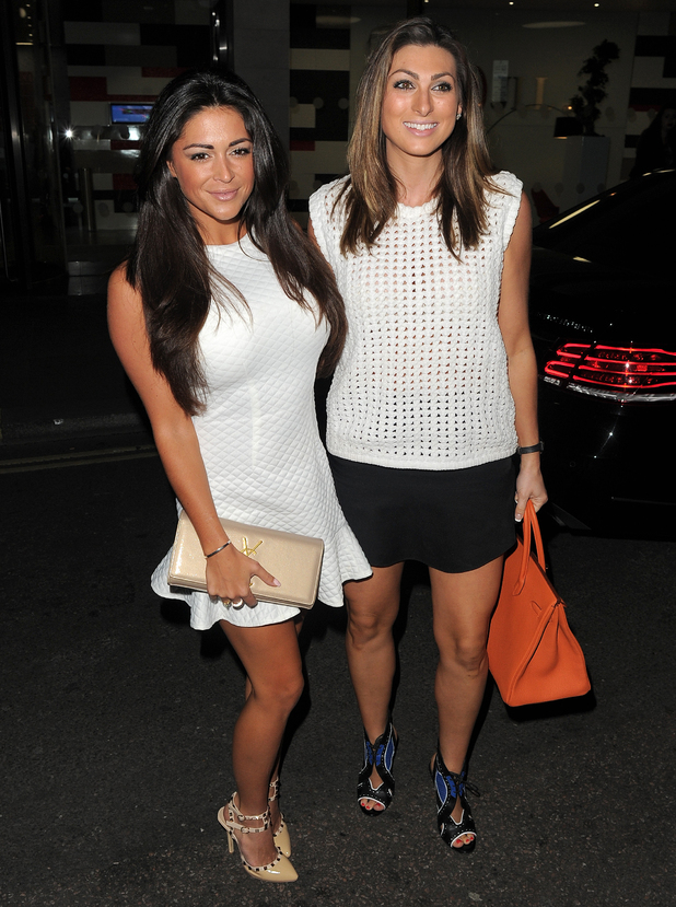 Casey Batchelor and Luisa Zissman attend the Union J fragrance launch in London, England - 24 September 2014