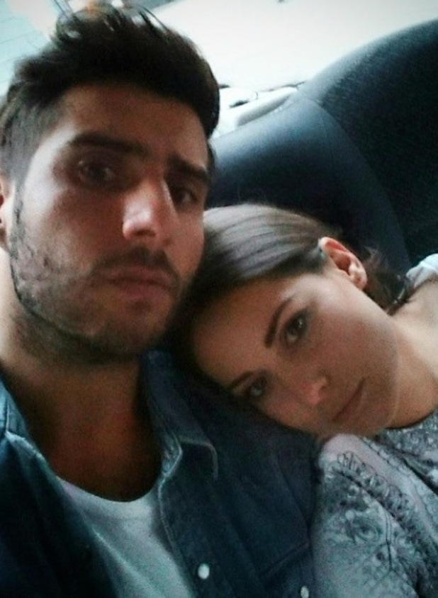 Made In Chelsea's Alik Alfus and Louise Thompson spend the day along Oxford Street. 23 September.