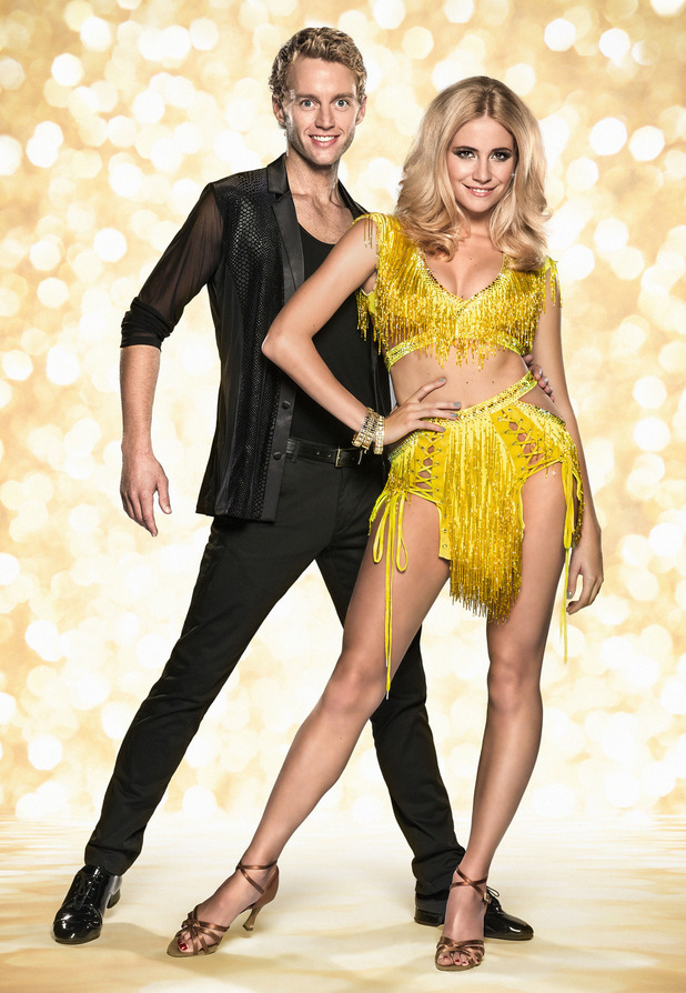 Strictly Come Dancing 2014 pairing: Trent Whiddon and Pixie Lott.