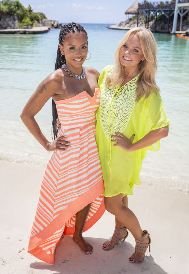 X Factor 2014 Judges' Houses: Mel B and Emma Bunton in Mexico
