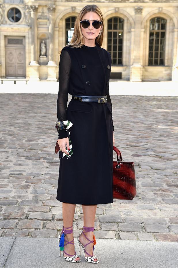 Olivia Palermo arrives at the Christian Dior show at Paris Fashion Week - 26 September 2014