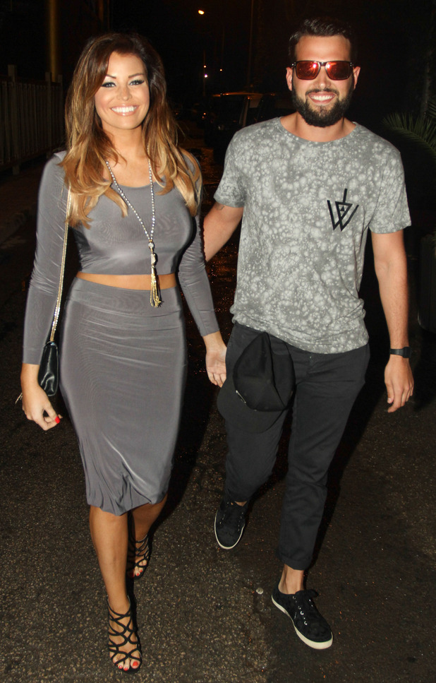 TOWIE's Jessica Wright and Ricky Rayment head out in Ibiza, Spain - 25 September 2014