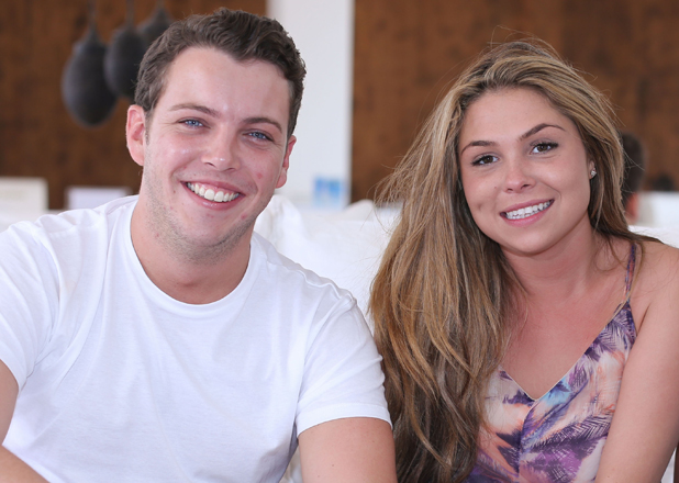 The Only Way is Essex cast arrivals at Destino, Ibiza, Spain - 21 Sep 2014 James Bennewith, Francesca Parman