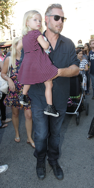 Jessica Simpson appears at the Norstrom fashion show at the Grove with husband Eric Johnson and their kids Maxwell and Ace, 20 September 2014