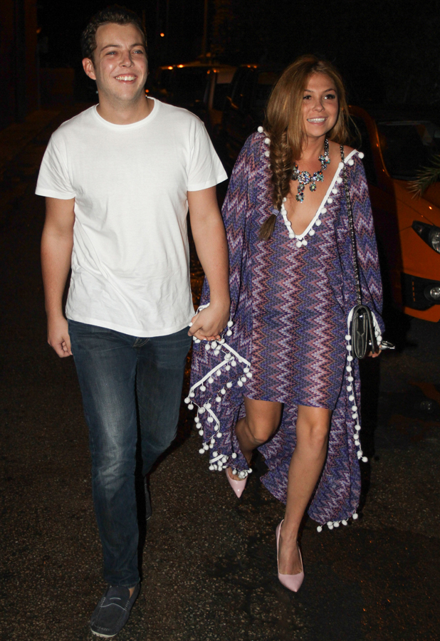 The Only Way Is Essex cast arrive for a night out at Es Paradis, Ibiza, Spain - 25 Sep 2014 James 'Diags' Bennewith and Fran Parman