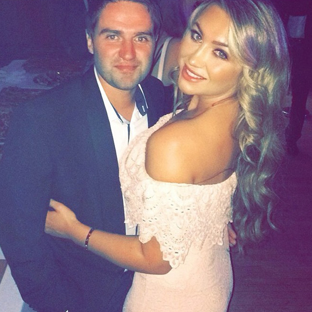 Lauren Goodger and George Gilbey at the 4th annual National Reality TV Awards (NRTA) at the Porchester, London, 23 September 2014