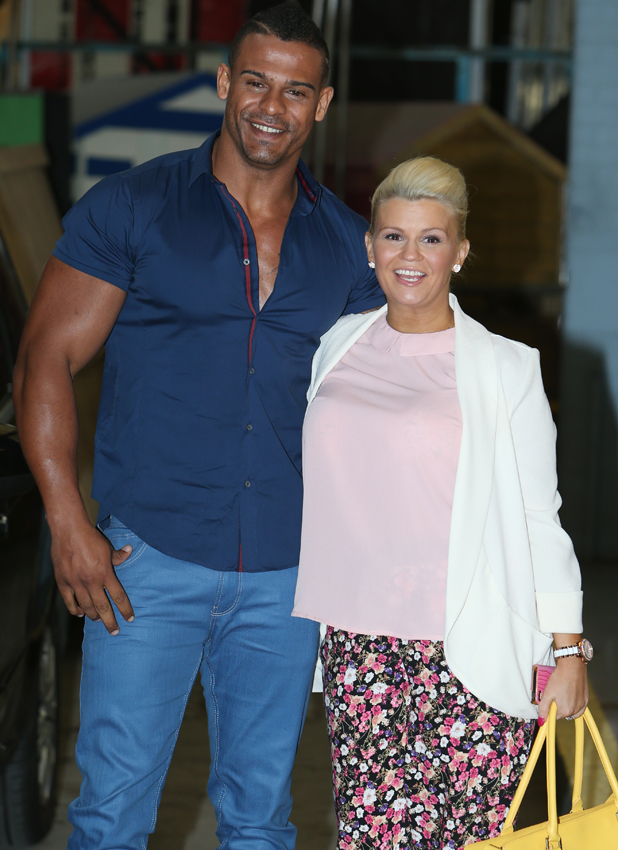 Kerry Katona and George Kay outside the ITV studios, 7 May 2014