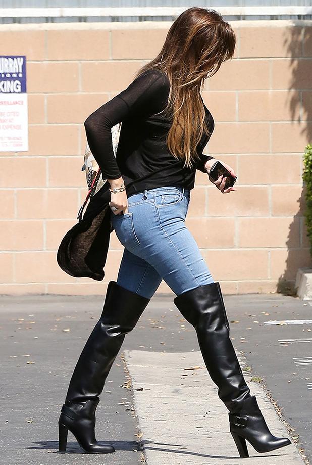 Khloe Kardashian leaving a Studio in Van Nuys, California, America - 19 Sep 2014