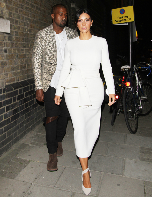 Kim Kardashian and Kanye West spent nearly 2 hours visiting an art gallery in Hackney, North London, 23 September 2014