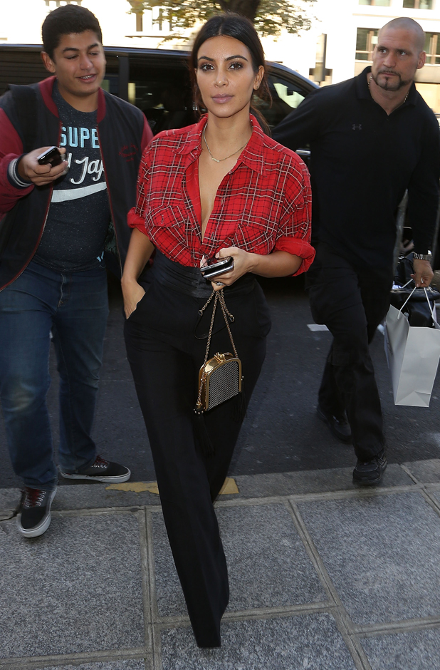 Kim Kardashian out and about on September 25, 2014 in Paris, France. (Photo by Marc Piasecki/GC Images)