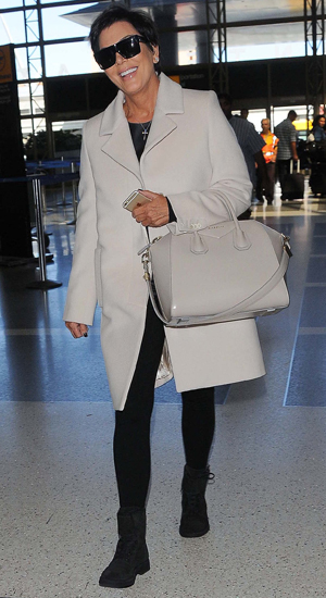 Kris Jenner at Los Angeles International Airport (LAX) after filing for divorce from husband Bruce, 22 September 2014
