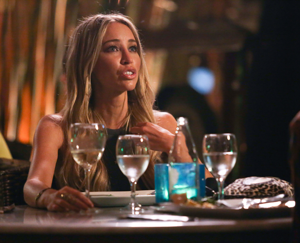 Lauren Pope and Vas J Morgan have dinner together at Bambuddah in Ibiza while filming TOWIE, 24 September 2014