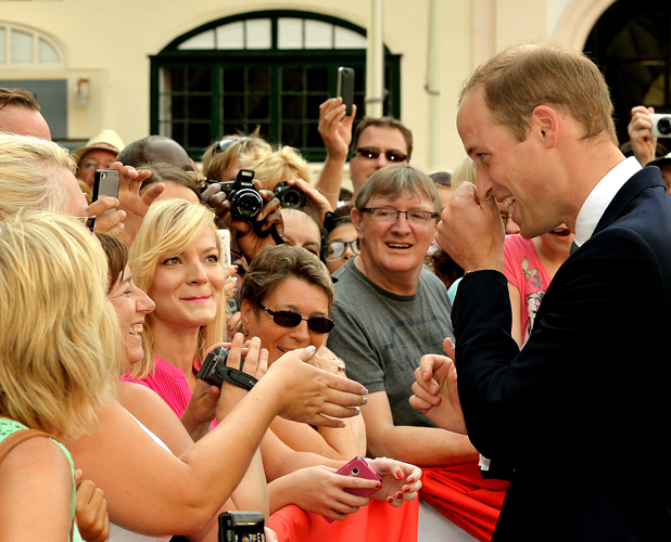 Prince William, Duke of Cambridge meets well wishers during a walkabout during an official visit to Malta on September 20, 2014 in Valletta, Malta. (Photo by John Stillwell - WPA Pool/Getty Images)