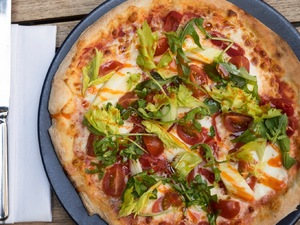 Feeling rough after a night out? Make this recipe for Bloody Mary Pizza!