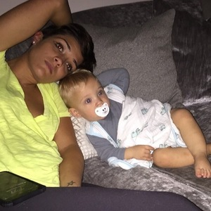 Frankie Bridge shares photo of herself and son Parker 3 October