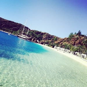 Lucy Watson shares her view on holiday with Stephanie Pratt in Turkey 29 September
