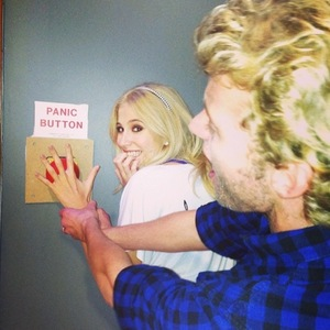 Pixie Lott, Trent Whiddon reaching for the panic button 2 October