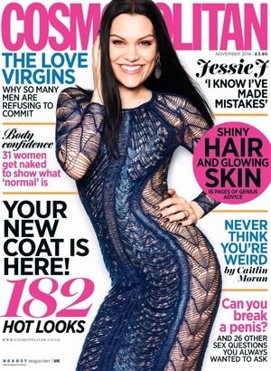 Jessie J is the cover girl for the November issue of Cosmopolitan