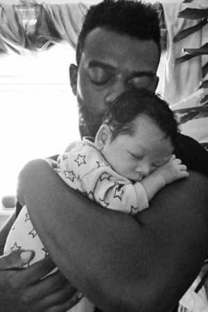 Oritsé Williams shares cute new photo of baby son Omré - 23 September.