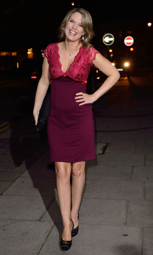 Charlotte Hawkins attends a celebration of Lorraine Kelly's 30 years in breakfast television at Langham Hotel on October 1, 2014 in London, England.