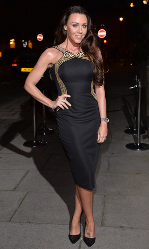 Michelle Heaton attends a celebration of Lorraine Kelly's 30 years in breakfast television at Langham Hotel on October 1, 2014 in London, England.