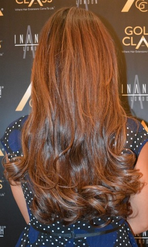 Rochelle Humes gets new Gold Class Hair extensions at Inanch London - 27 September 2014