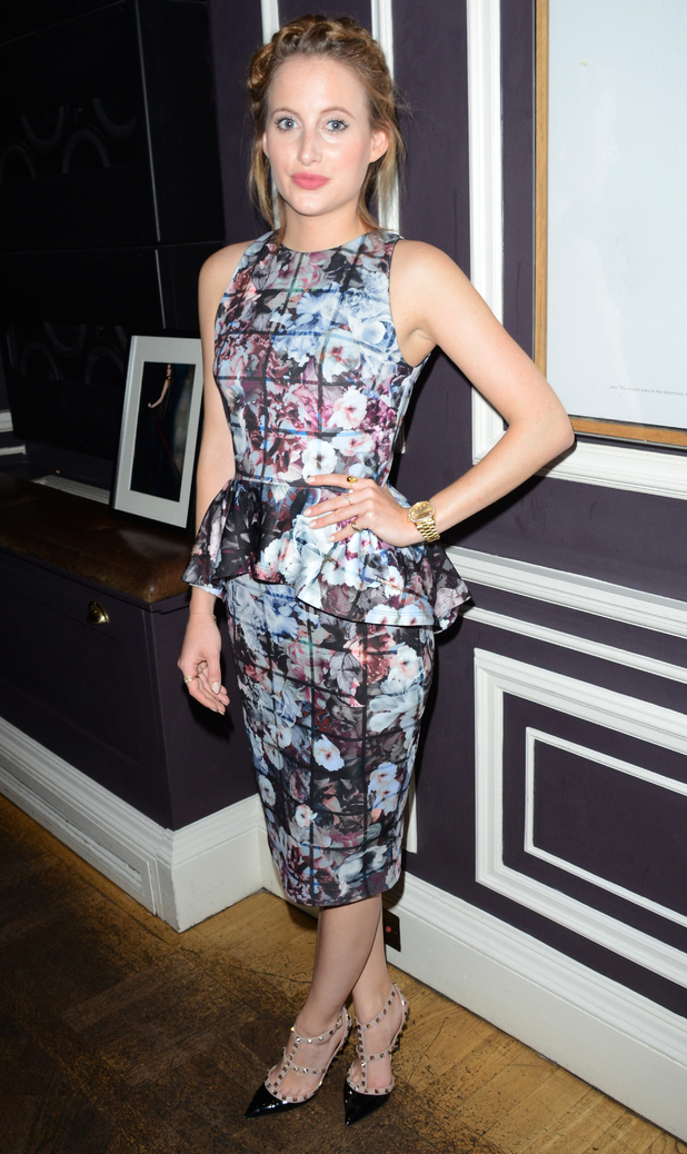 Rosie Fortescue at the press launch for her new clothing collection with Lipstick Boutique in London - 30 September 2014