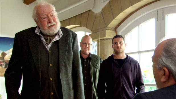 Emmerdale, Aaron, Sandy and Paddy confront Lawrence, Tue 30 Sep