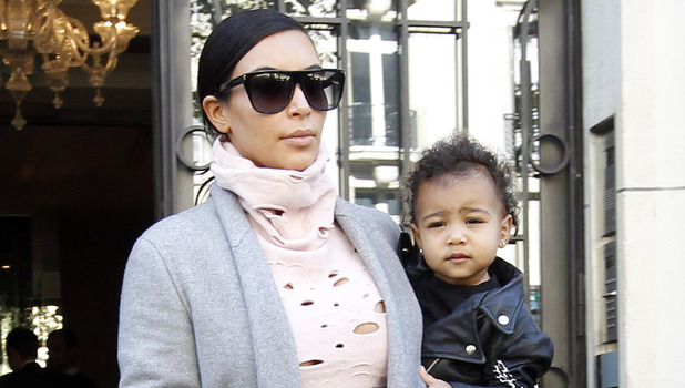 Kim Kardashian and daughter North West head home from Paris, France 1 October