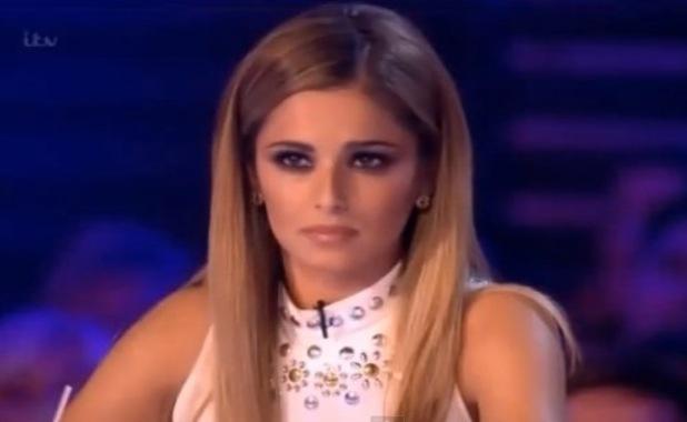 X Factor's Cheryl Fernandez-Versini glares at Raign Rubins as she's sent home from boot camp - 28 Sep 2014