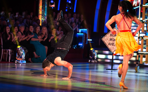 Mark Wright performs the worm on Strictly Come Dancing - aired 27 September.