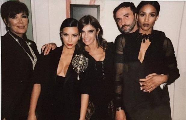 Kim Kardashian attends CR Fashion Book launch party with Kris Jenner, Ciara, Paris, France 30 September