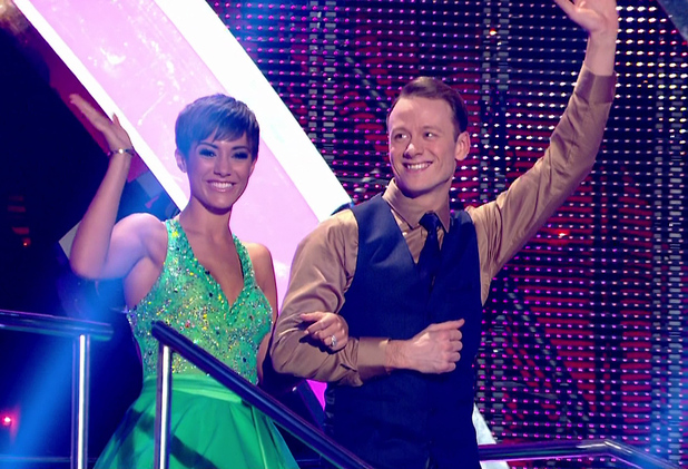 Strictly Come Dancing's Frankie Bridge and Kevin Clifton on week one. 26 September 2014.