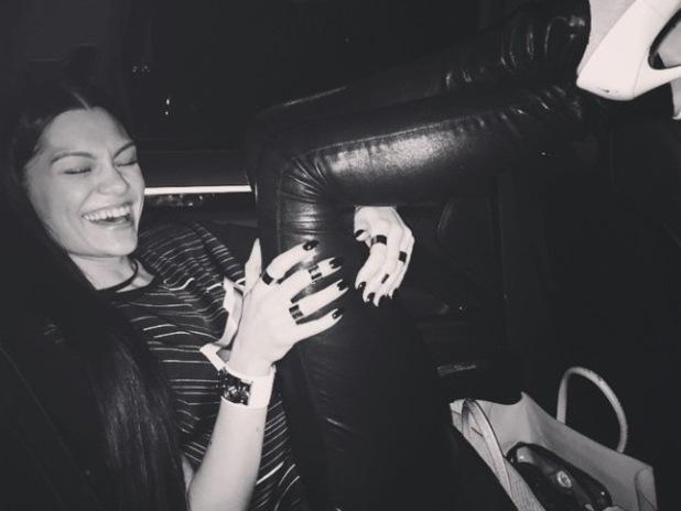 Jessie J celebrates 'Bang Bang' achieving number one - 29 September 2014.