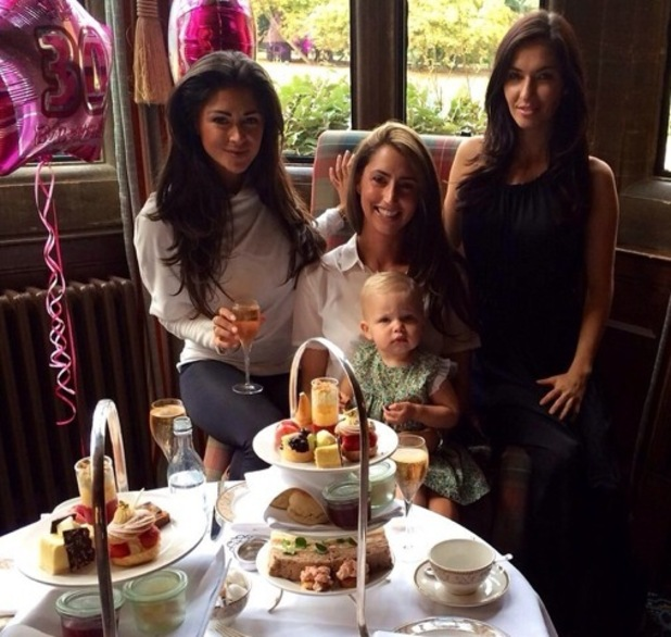 Casey Batchelor enjoys pre-birthday celebrations at afternoon tea with friends 1 October