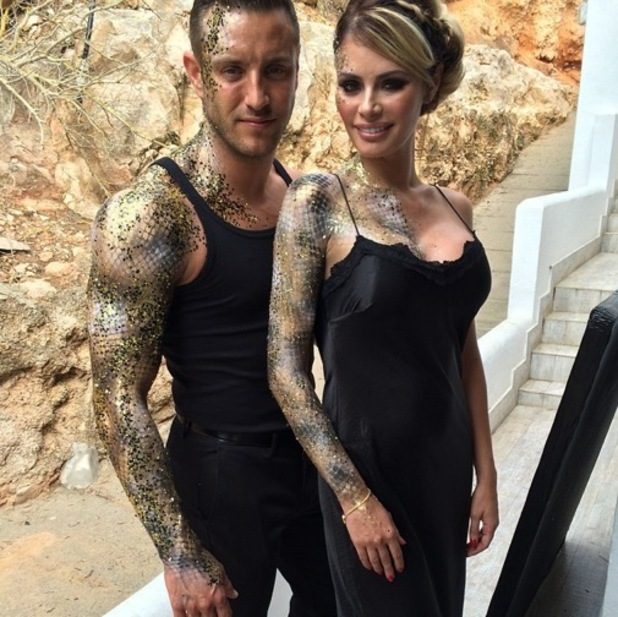 Elliott Wright and Chloe Sims head to Black and Gold party in Ibiza, Spain 29 September