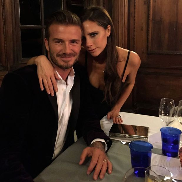 Victoria Beckham and husband David on launch of his Haig Club in Scotland, 4 October 2014