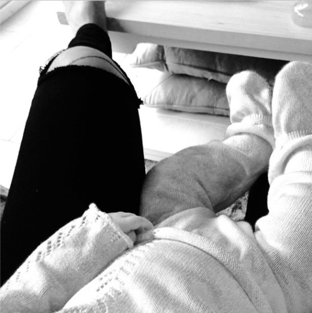 TOWIE's Billie Faiers enjoys a cuddle with baby daughter Nelly - 2 Oc 2014