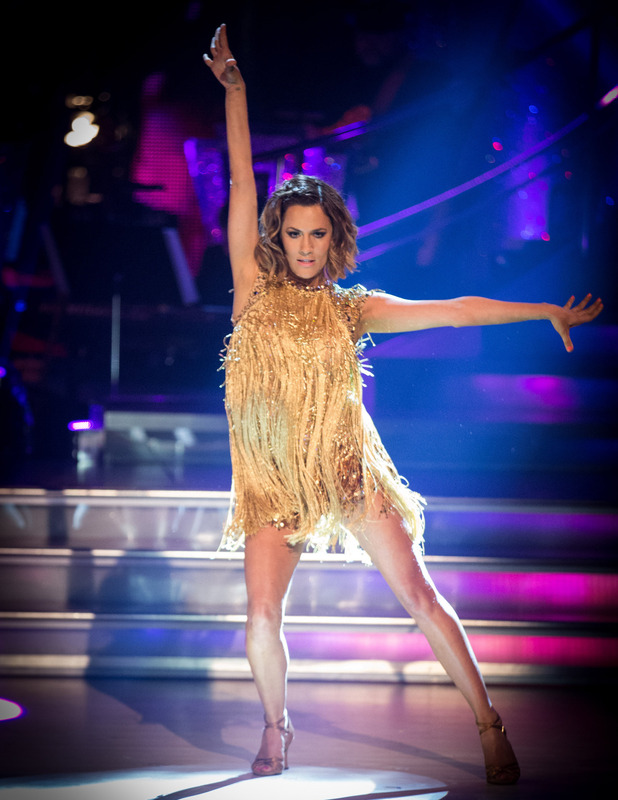 Caroline Flack performs on Strictly Come Dancing - aired 27 September.