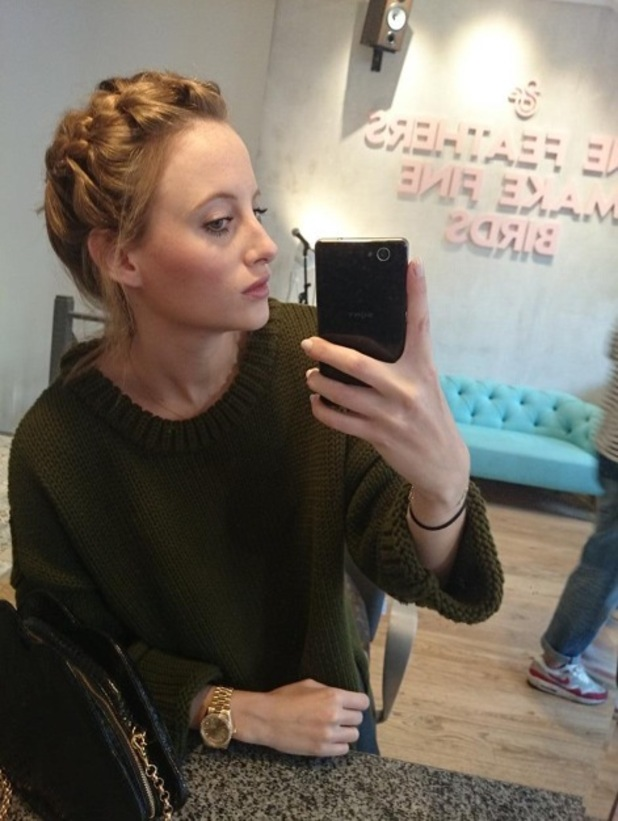 Rosie Fortescue at Duck & Dry salon in Chelsea, London - 30 September 2014