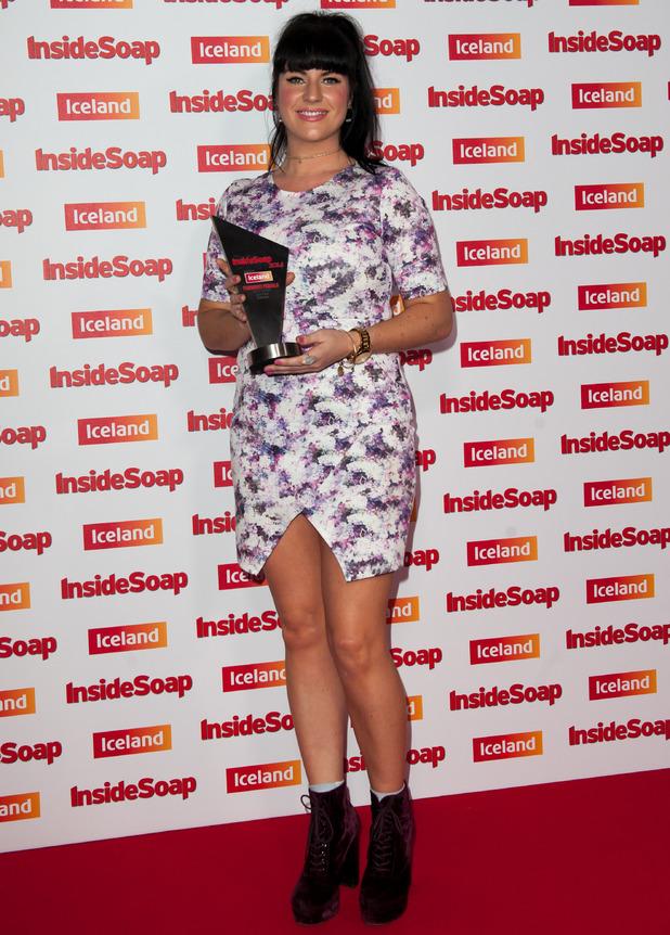 Laura Norton wins Funniest Female at Inside Soap Awards, DSTRKT, London 1 October