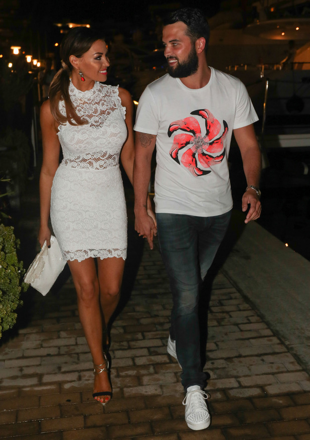Jess Wright and Ricky Rayment out for dinner for Lauren Pope's birthday, Lio, Ibiza, Spain 28 September